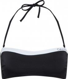 Calvin Klein Swimwear Horní díl plavek \'BANDEAU-RP\' černá / bílá