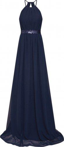 STAR NIGHT Společenské šaty \'long dress chiffon & sequins\' námořnická modř