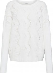 TOM TAILOR Svetr \'sweater with open structure\' bílá