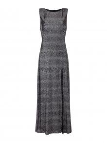 Mela London Společenské šaty \'SIDE SLIT SHIMMER MAXI DRESS\' černá