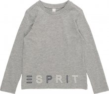 ESPRIT Tričko šedá / černá / bílá