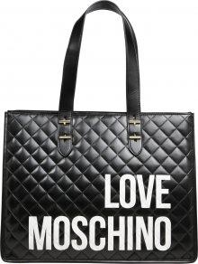 Love Moschino Nákupní taška \'BORSA QUILTED NAPPA PU NERO\' černá