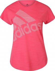 ADIDAS PERFORMANCE Funkční tričko \'Badge of Sport\' pink / bílá
