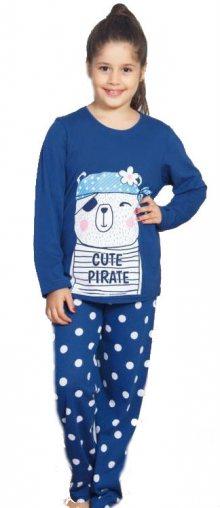 Dětské pyžamo dlouhé Vienetta Secret Méďa Pirát | červená | 9 - 10