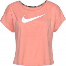 NIKE Funkční tričko \'SWOOSH RUN\' růžová / bílá