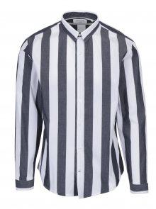 Bílo-šedá pruhovaná košile Lindbergh
