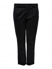 ONLY Carmakoma Kalhoty se sklady v pase \'GOLDTRASH STRAIGHT\' černá