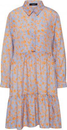 SISTERS POINT Košilové šaty \'Gloss-Dr9\' modrá / žlutá