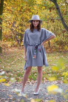 Simpo šedé šaty Waterfall Grey - U