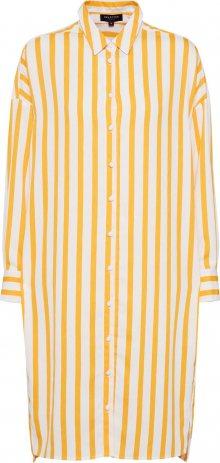 SELECTED FEMME Košilové šaty žlutá / bílá