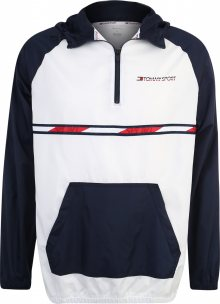 Tommy Sport Sportovní bunda modrá / bílá