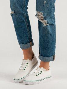 Trendy dámské  tenisky bílé bez podpatku 37