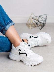Krásné  tenisky dámské bílé bez podpatku 37