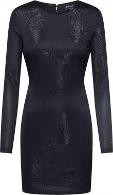 Bardot Šaty \'METALLIC KNIT DRESS\' černá