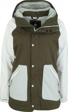 BURTON Outdoorová bunda \'Eastfall\' světlemodrá / khaki / bílá