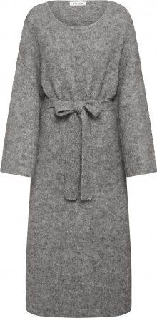 EDITED Úpletové šaty \'Isac\' šedá