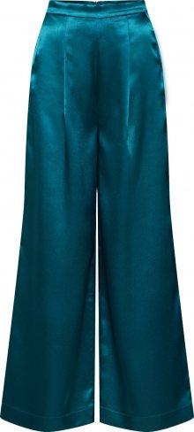 EDITED Kalhoty se sklady v pase \'Manaba\' zelená / petrolejová