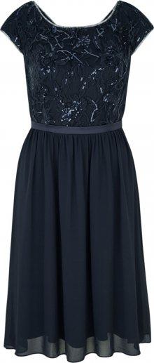 s.Oliver BLACK LABEL Koktejlové šaty námořnická modř