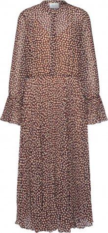SECOND FEMALE Košilové šaty \'Anita LS Maxi Dress\' fialová / mix barev