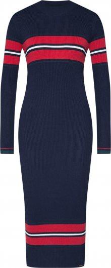 Superdry Úpletové šaty \'HALLIE RIBBED BODYCON DRESS\' námořnická modř