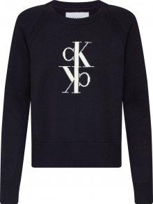 Calvin Klein Jeans Svetr \'MIRRORED MONOGRAM COTTON SWEATER\' černá