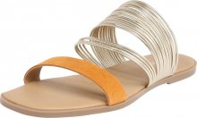 ABOUT YOU Pantofle \'Joline\' zlatá / oranžová