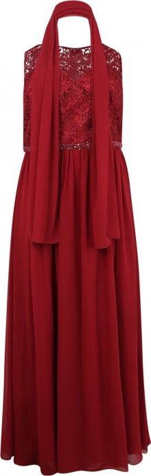 My Mascara Curves Společenské šaty vínově červená