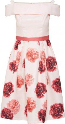 Chi Chi London Koktejlové šaty růžová / pudrová / červená