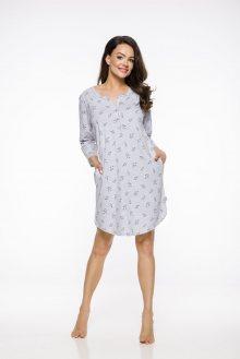 Dlouhá dámská noční košile 2313 ENI S-XL 2019/2020 J šedá S
