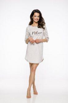 Dlouhá dámská noční košile 1186 RITA S-XL 2019/2020 J béžová L