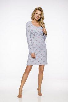 Dlouhá dámská noční košile 1091 LINDA S-XL 2019/2020 J šedá S