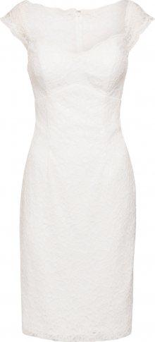 STAR NIGHT Koktejlové šaty slonová kost