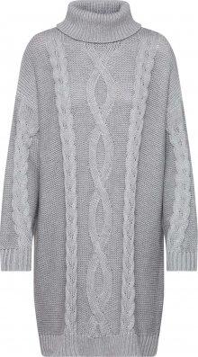 MINKPINK Úpletové šaty \'JANINE CABLE JUMPER DRESS\' šedá