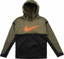 Nike Sportswear Mikina olivová / černá