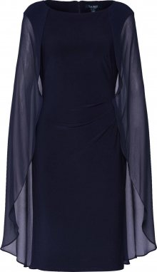 Lauren Ralph Lauren Koktejlové šaty \'HOPELEE SHRT-SHORT SLEEVE-COCKTAIL DRESS\' námořnická modř