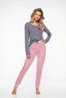 Dlouhé dámské pyžamo 2317  KAMI S-XL 2019/2020 J tmavě šedá XL
