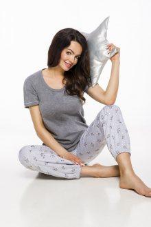 Dlouhé dámské pyžamo 2324 ELI S-XL 2019/2020 J šedá XL