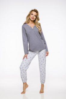Dlouhé dámské pyžamo 2323 HIARA S-XL 2019/2020 J tmavě šedá XL
