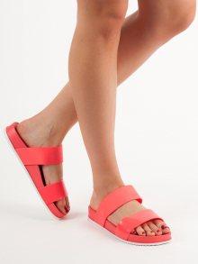 Komfortní  nazouváky červené dámské bez podpatku 36