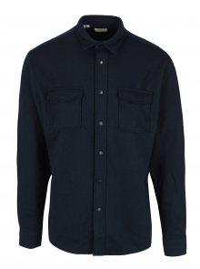 Tmavě modrá regular fit košile s příměsí vlny Selected Homme Three Pontus