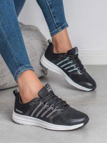 Jedinečné  tenisky dámské černé bez podpatku 36