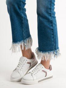 Trendy dámské  tenisky bílé bez podpatku 36