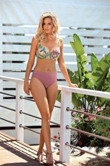 Dvoudílné dámské plavky Self S 940 P 19 růžová/zelená 40G-L