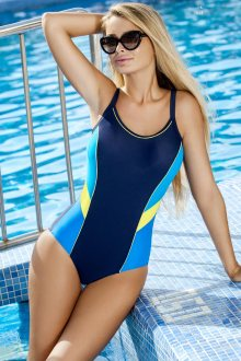 Dámské jednodílné plavky Ewlon Perla tmavě modrá-modrá 36