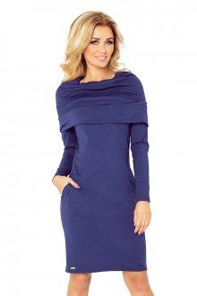 Dámské šaty 131-5 tmavě modrá XXL