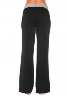 KANGAROOS Kalhoty pro odpoč. Kangaroos černá s růžovou 36/38