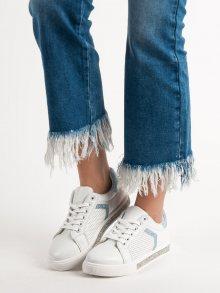 Pohodlné dámské bílé  tenisky bez podpatku 37