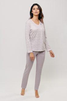 Dámské pyžamo 081 růžová-béžová L
