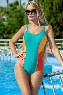 Dámské jednodílné plavky Ewlon Perla fosforová-oranžová 42