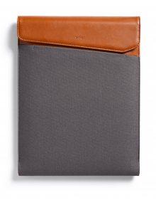 Hnědo-šedý obal na notebook s koženými detaily Bellroy Laptop Sleeve Extra 15\